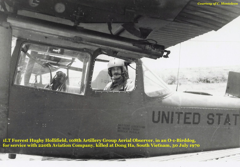 1LT Forrest H. Hollifield, AO, 108th Arty Gp, 1970