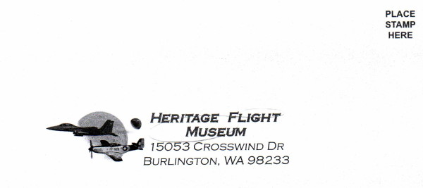 sample donations envelope, Heritage Flight Museum