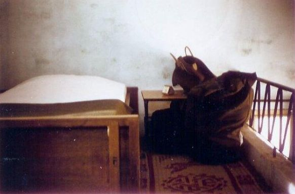 Norm's bunk on the balcony of room at 9 Gia Long. It was hot up there
