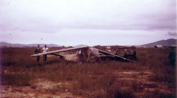 CPT Murray aircraft after being hauled in by helicopter