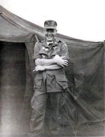 MacPhee at Khe Sahn, after transfer to 18th Otter Company. Flying missions north of DMZ there
