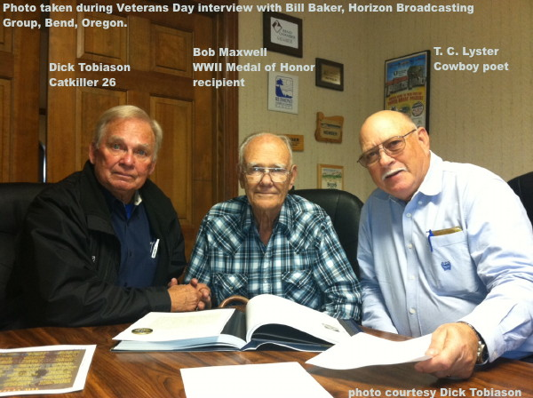 Cowboy Poet, T. C. Lyster, with Dick Tobiason and Bob Maxwell in Oregon