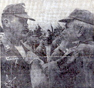 COL Howard B. St Clair, awards the AM to CPT William J. Amberger, 1966