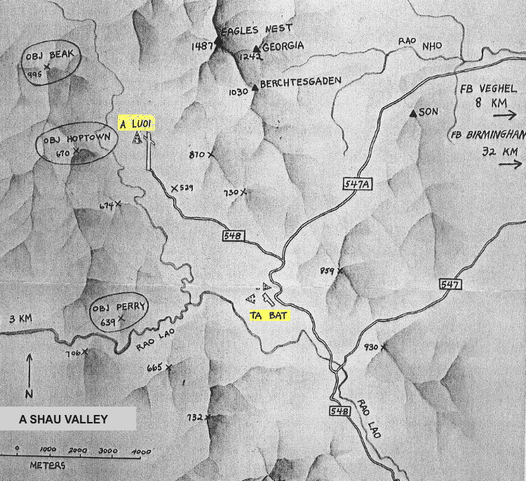 A Shau Valley map supplements