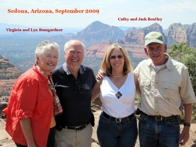 Catkiller Lyn Bunmgardner and wife, Virginia; Catkillker Jack Bently and his wife, Cathy, September 2009