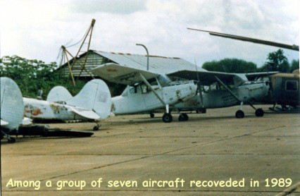 51-12898 among seven other recovered aircraft from Bien Hoa Air Base, Vietnam