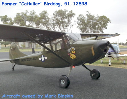 Former Catkiller Birddog 51-12898, owned by Mark Binskin