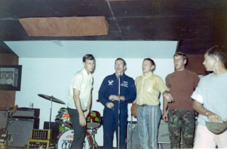 L to R Pete Blevins, Paul Brennan, Finch, Burke and Arrington. 1969