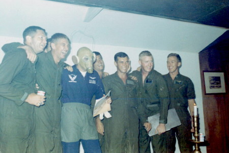 L to R, Marines Clint Smith, Clyde Trathowen, really ugly Cat Killer Dude (Gentleman Jack Bentley), almost hiding is Marines Jeff Wagner, Mike Granwehr, unknown, and Ken Phipps, 1969