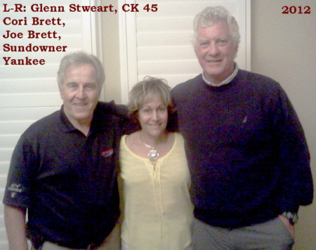 Joe and Cori Brett visit with Glenn Stewart