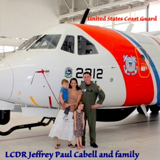 LCDR Jeffrey Paul Cabell and family, USCG