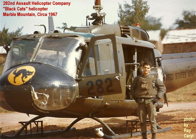 282nd Assault Helicopter Company, Black Cats helicopter, circa 1967