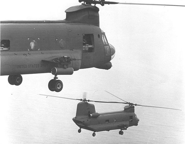 CH-47 in the air