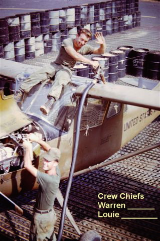 220th Aviation Co Crew Chiefs Warren ______ and Louie _______