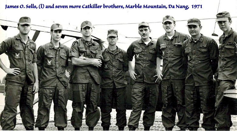 Jim Sells, Catkiller 21, and seven more btrothers, 220th Avn Co, 1971