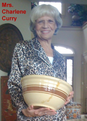 Mrs. Charlene Curry accepting a gift from the Catkillers
