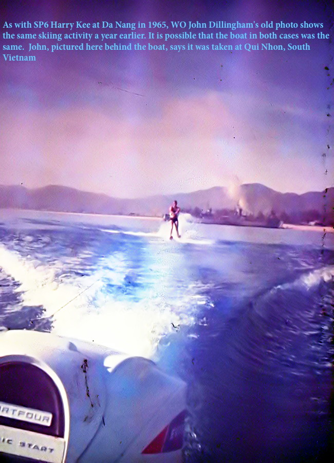 Skiing at Qui Nhon on R and R, 1966