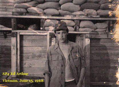Ed Arthur in Vietnam, June 1968