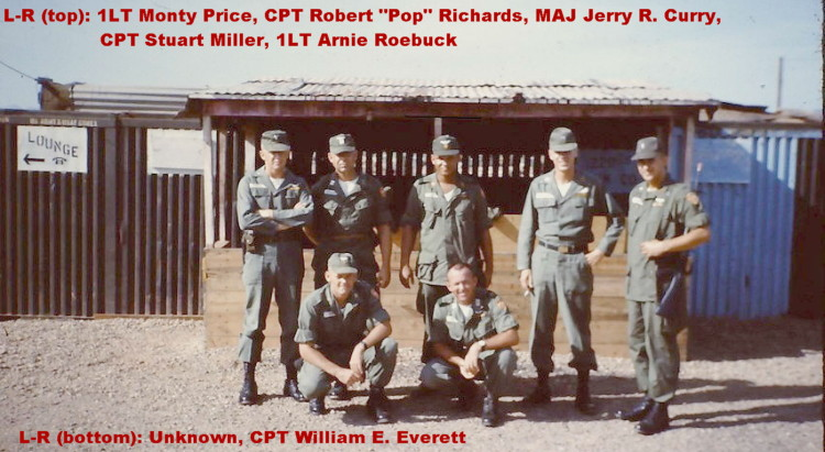 A small group shot of a few 220th Aviation Company officers in Vietnam, courtesy Bill Everett, Catkiller 16