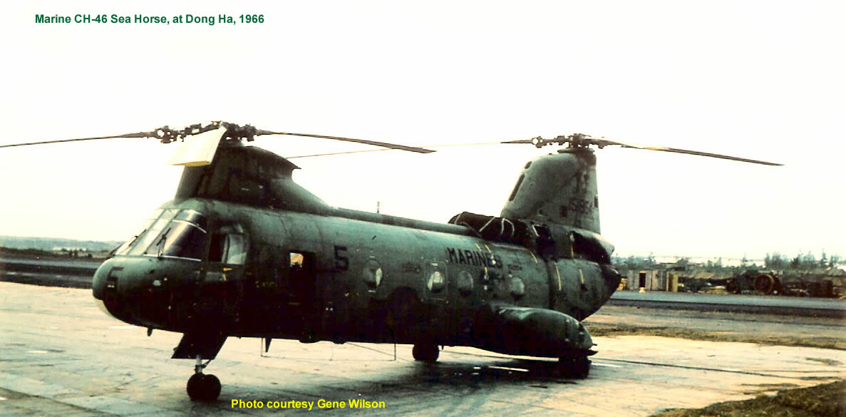 Marine CH-46 Sea Horse at Dong Ha, 1966