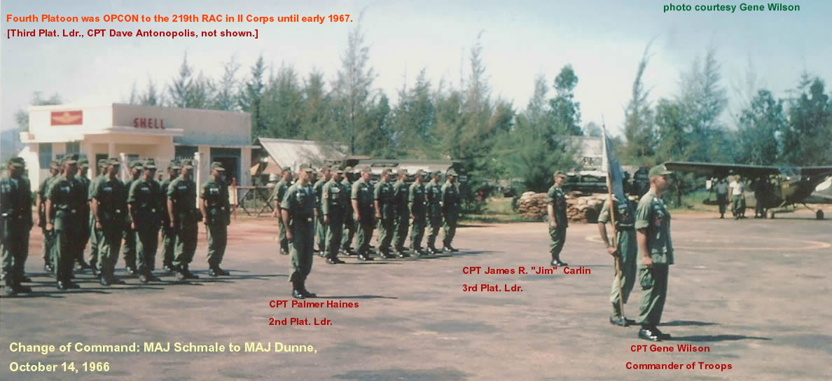 Change of Command ceremony, MAJ Schmale to MAJ Dunne, Oct. 1966