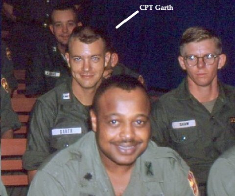 A closeup of the above photo showing CPT Bob Garth, 1st Platoon, 220th Aviation Cpmpany