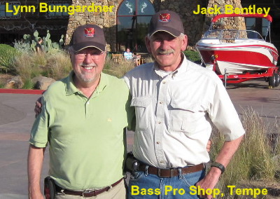 Jack bentley, Catkiller 16; and Lynn Bumgardner, Catkiller 14/9, at Bass Pro Shop, Tempe, AZ