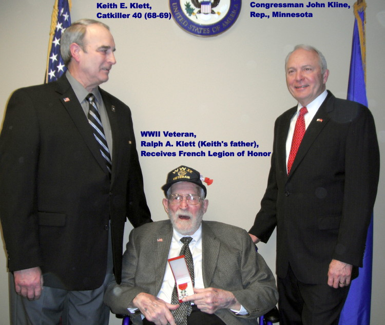 WWII Veteran Ralph H. Klett receives the French Legion of Honor