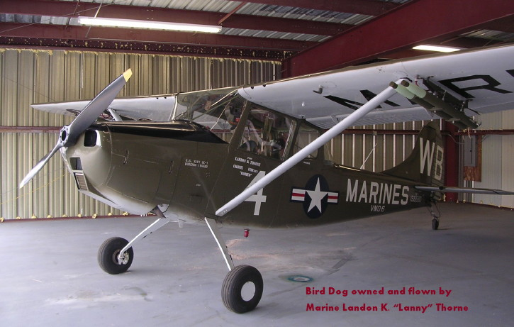 Bird Dog owned and flown by Landon K. 'Lanny' Thorne