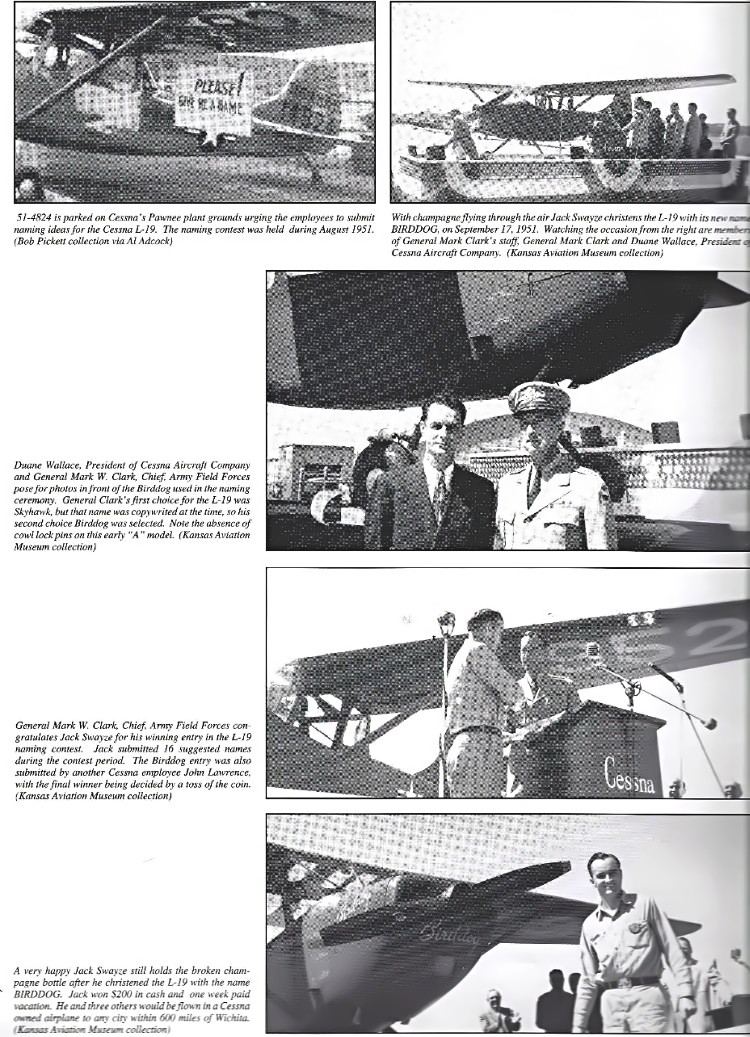 page 18 abstract: THE LOVEABLE ONE-NINER, The Complete History of the Cessna L-19 Birddog