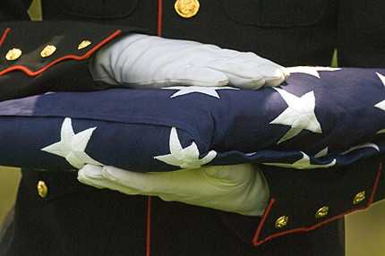 United States burial flag