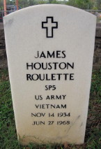 SP5 James Houston Roulette, KIA June 27, 1968