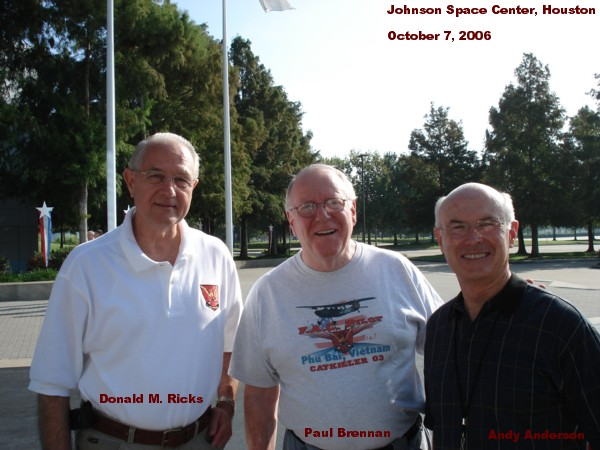 Don Ricks, Paul Brennan, and Andy Anderson at the Johnson Space Center, Houston