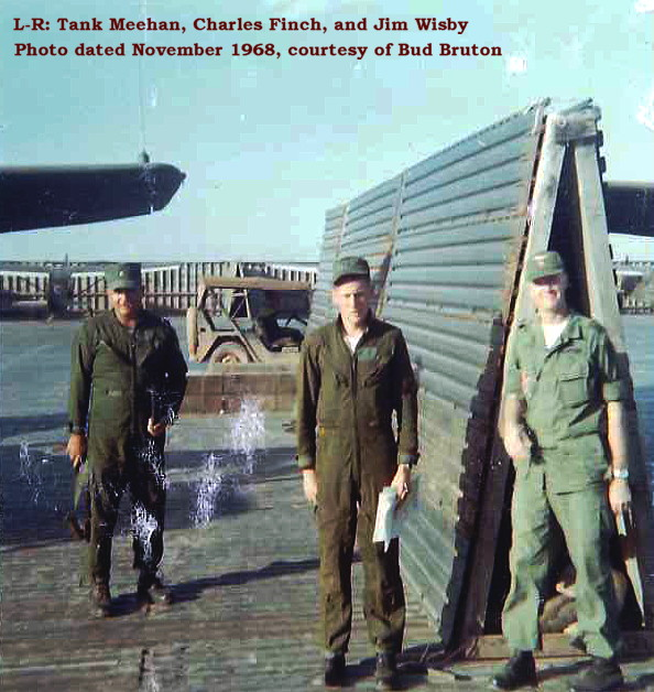 CPT Thomas (Tank) Meehan, CPT Charles Finch, and MAJ Jim Wisby, Phu Bai, Nov 1968