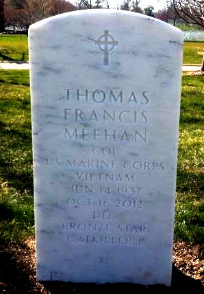 Arlington National Cemetery grave stone for Col. Thomas F. Meehan
