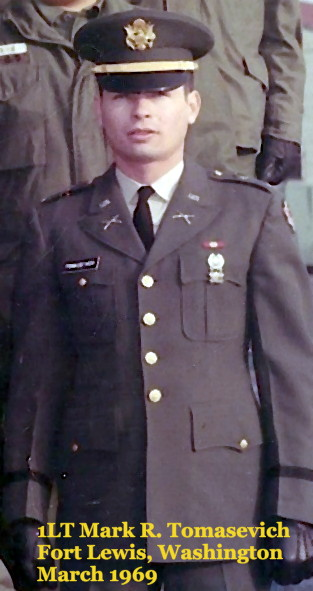 1LT Mark Raymond Tomasevich, March 1969