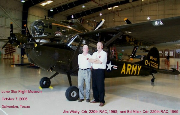 Jim Wisby and Ed Miler, 220th RAC Commanders
